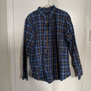 Banana republic blue plaid dress shirt